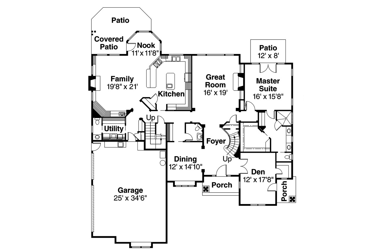 Classic house plans bellingham 30 429 associated designs for Classic homes floor plans