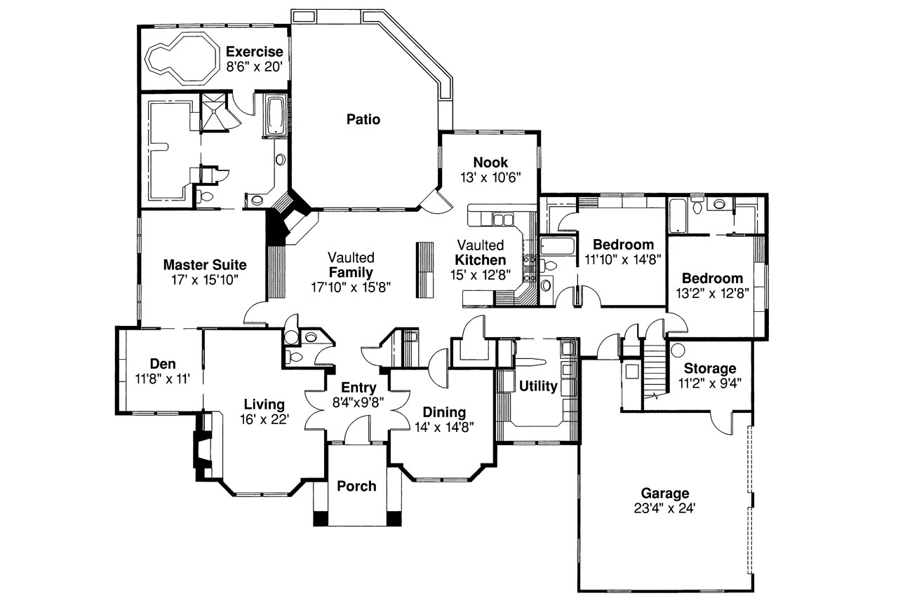 26 fresh classical house plans home plans blueprints Classic home floor plans