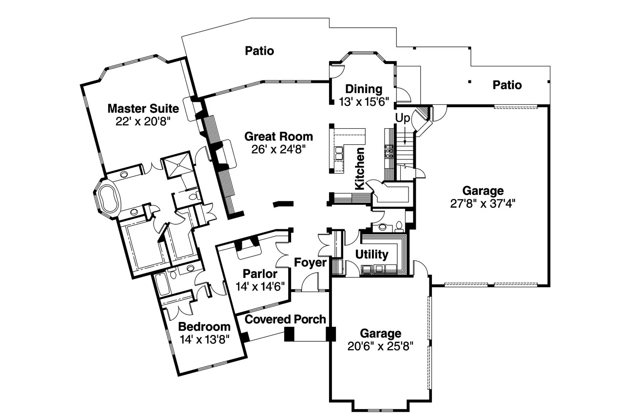 Classic house plans huntsville 30 463 associated designs Classic home floor plans