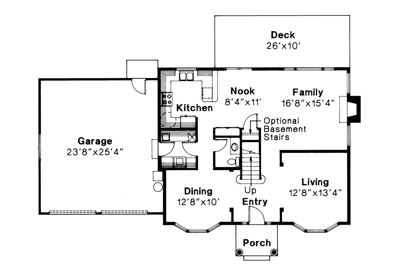 Colonial House Plan Westport 10 155 1st Floor Plan