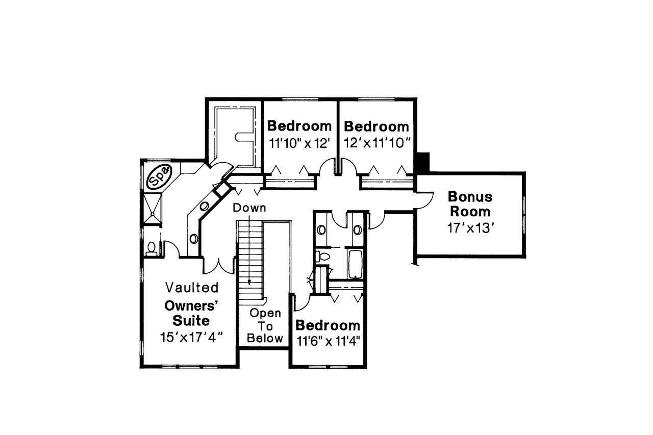 Colonial house plans willmar 30 048 associated designs for Colonial home floor plans