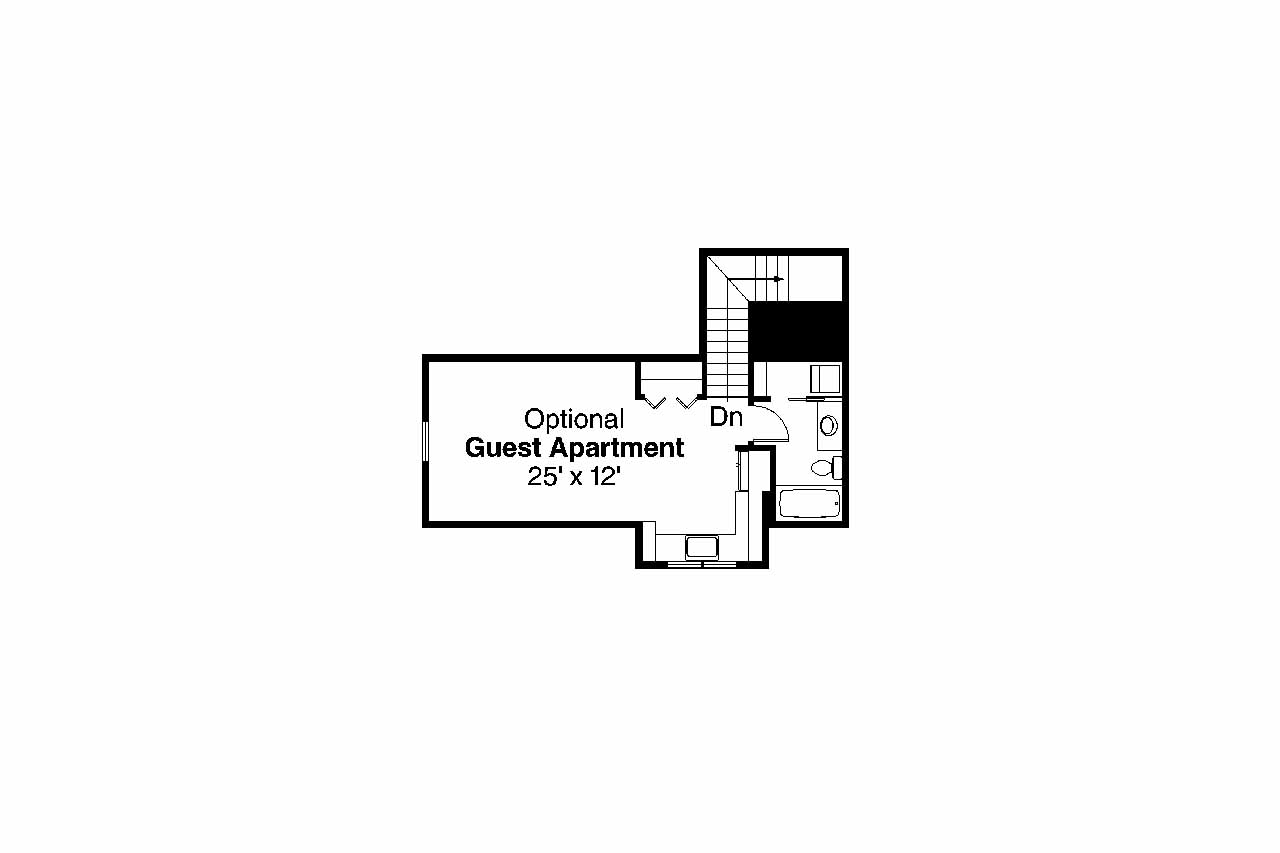 Contemporary house plans goldenheart 10 580 associated for Guest apartment floor plans