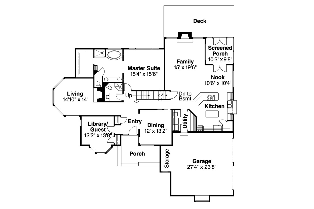 Contemporary House Plans - Blueridge 10-205 - Associated Designs