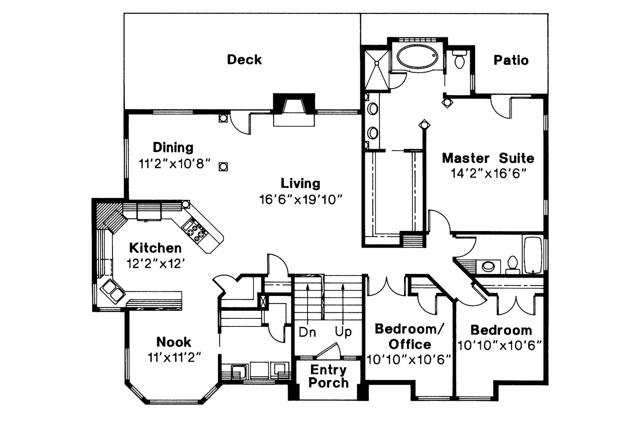 Contemporary house plans lenox 30 066 associated designs Floor plan view