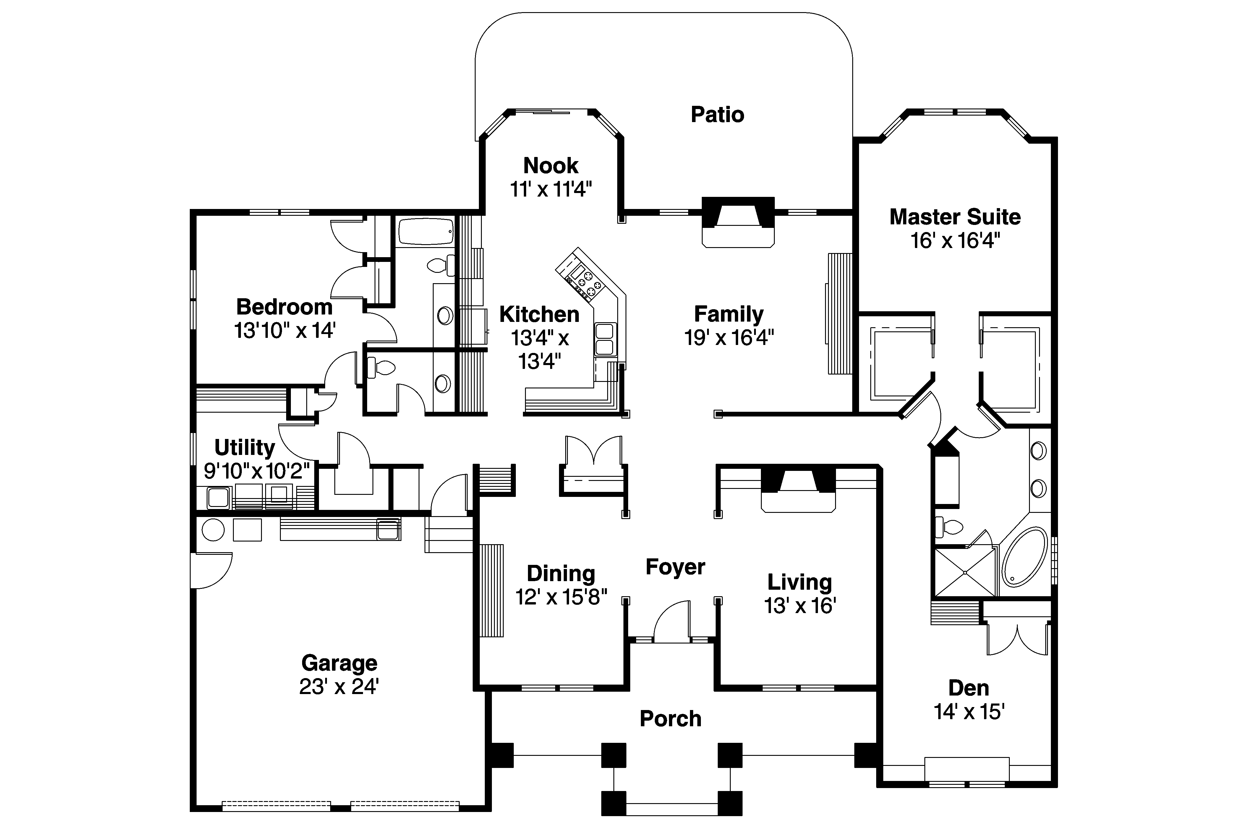 Contemporary house plans stansbury 30 500 associated for Contemporary floor plans for new homes