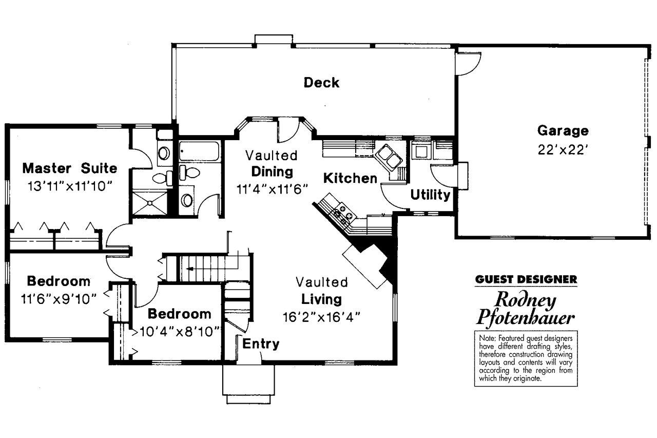 Cottage house plans ayersville 42 002 associated designs for Cottages floor plans design