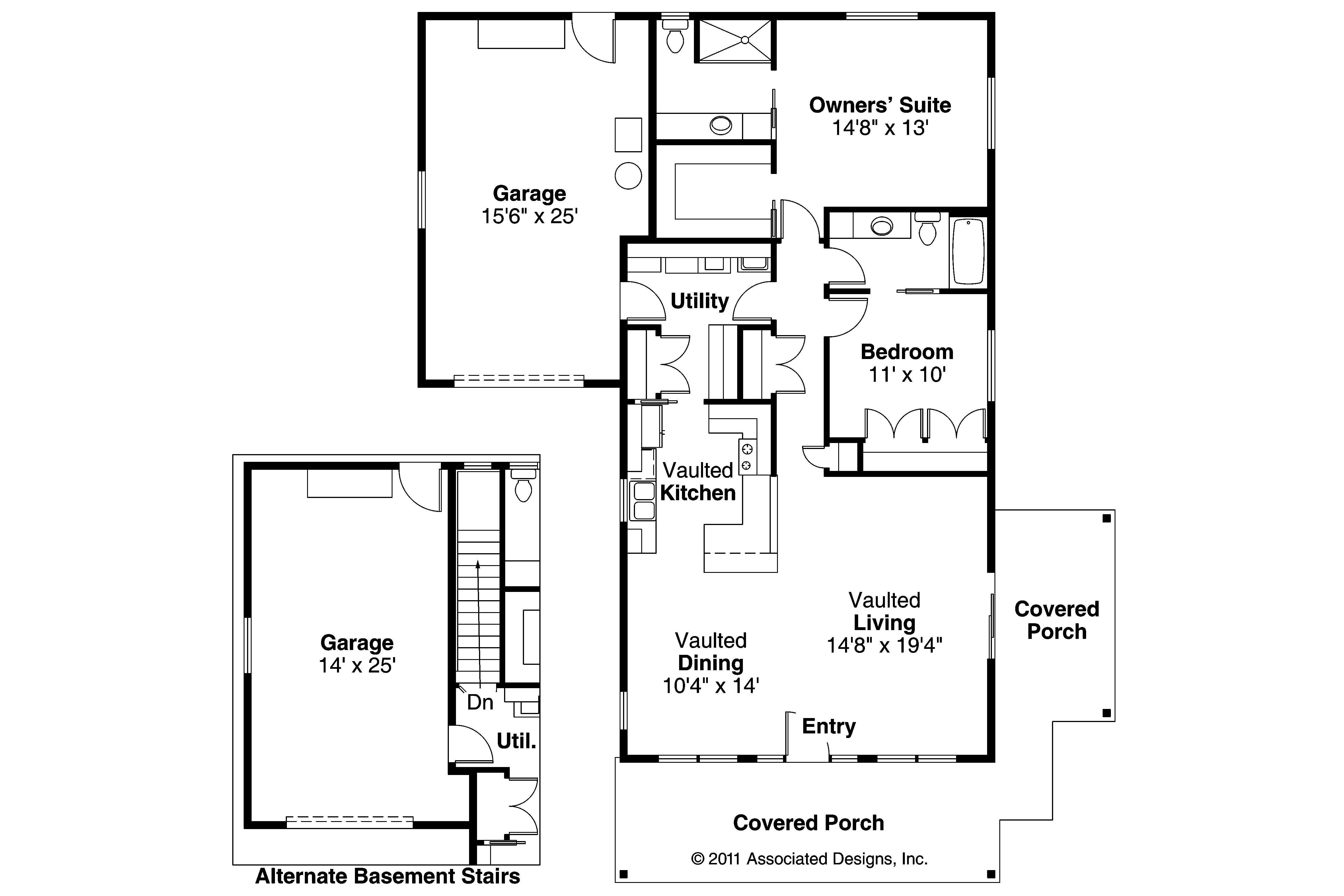 Cottage house plans branell 30 485 associated designs Cottage house floor plans