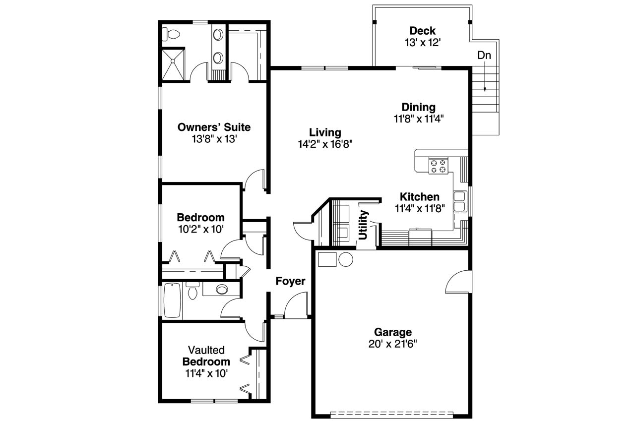 Cottage house plans kayleigh 30 549 associated designs for American home floor plans