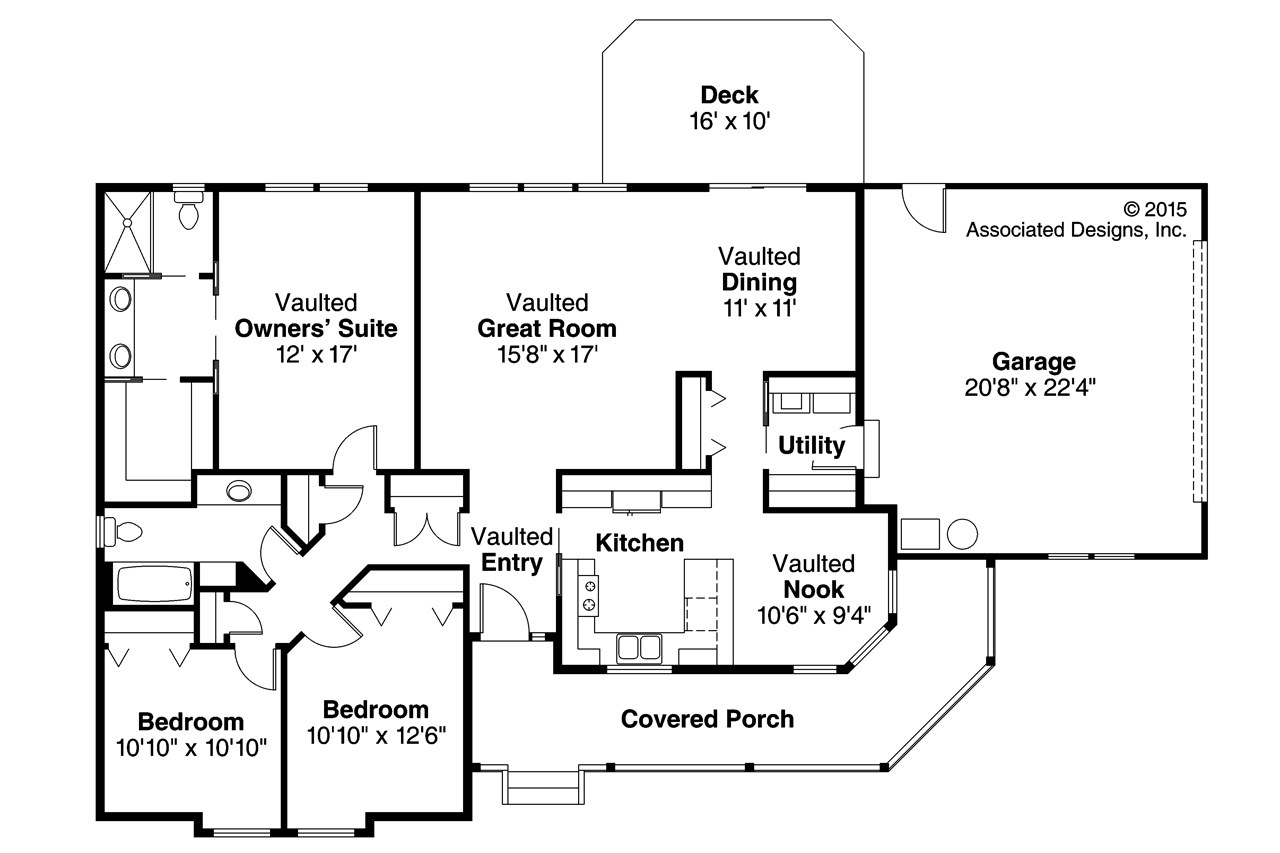 Marvelous Country House Plan   Briarton 30 339   Floor Plan ...