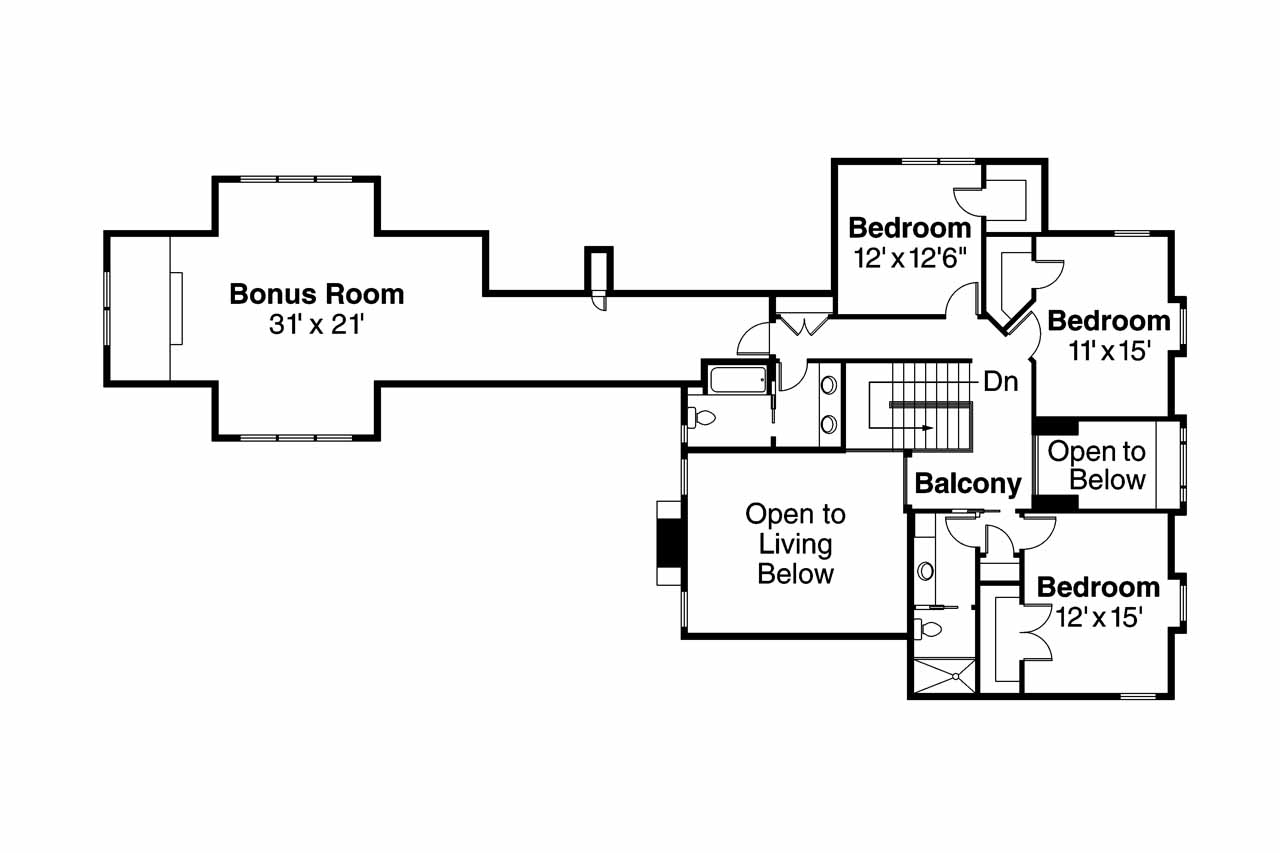 100 2nd Floor House Plan Pleasant Modern Small Two