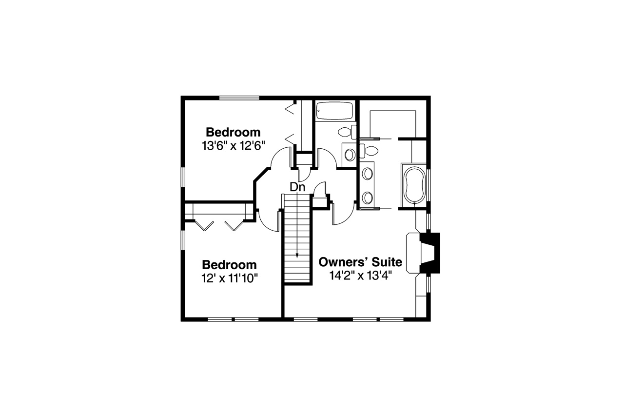 country house plan pine hill 30 791 2nd floor plan - Second Floor Floor Plans