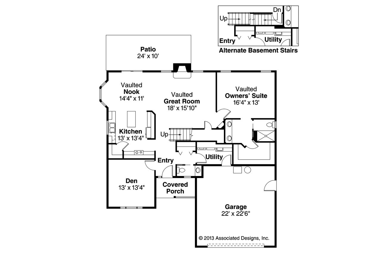 Country house plans radbourne 30 562 associated designs for Country house floor plans