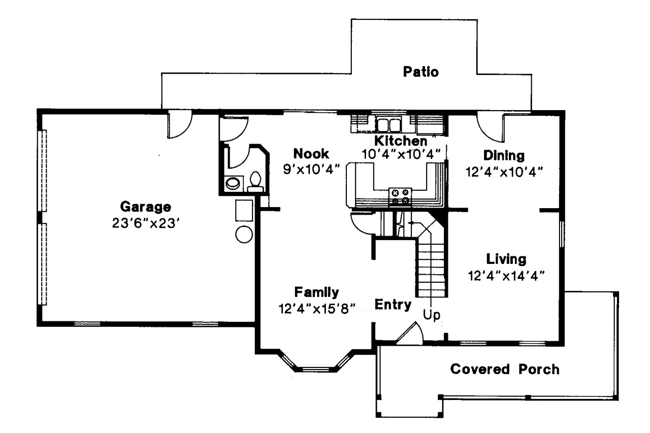 Country House Plan   Sedgewicke 30 094   1st Floor Plan ...