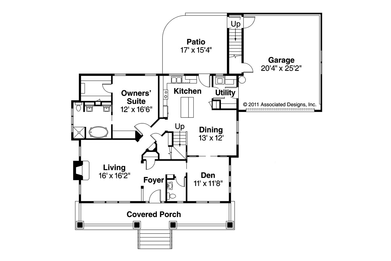 Craftsman home floor plans craftsman style home plans for Craftsman floor plans