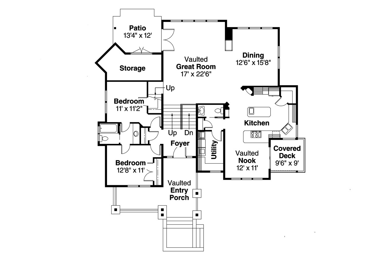 Craftsman house plans kelseyville 30 476 associated for Craftsman house plans first floor master