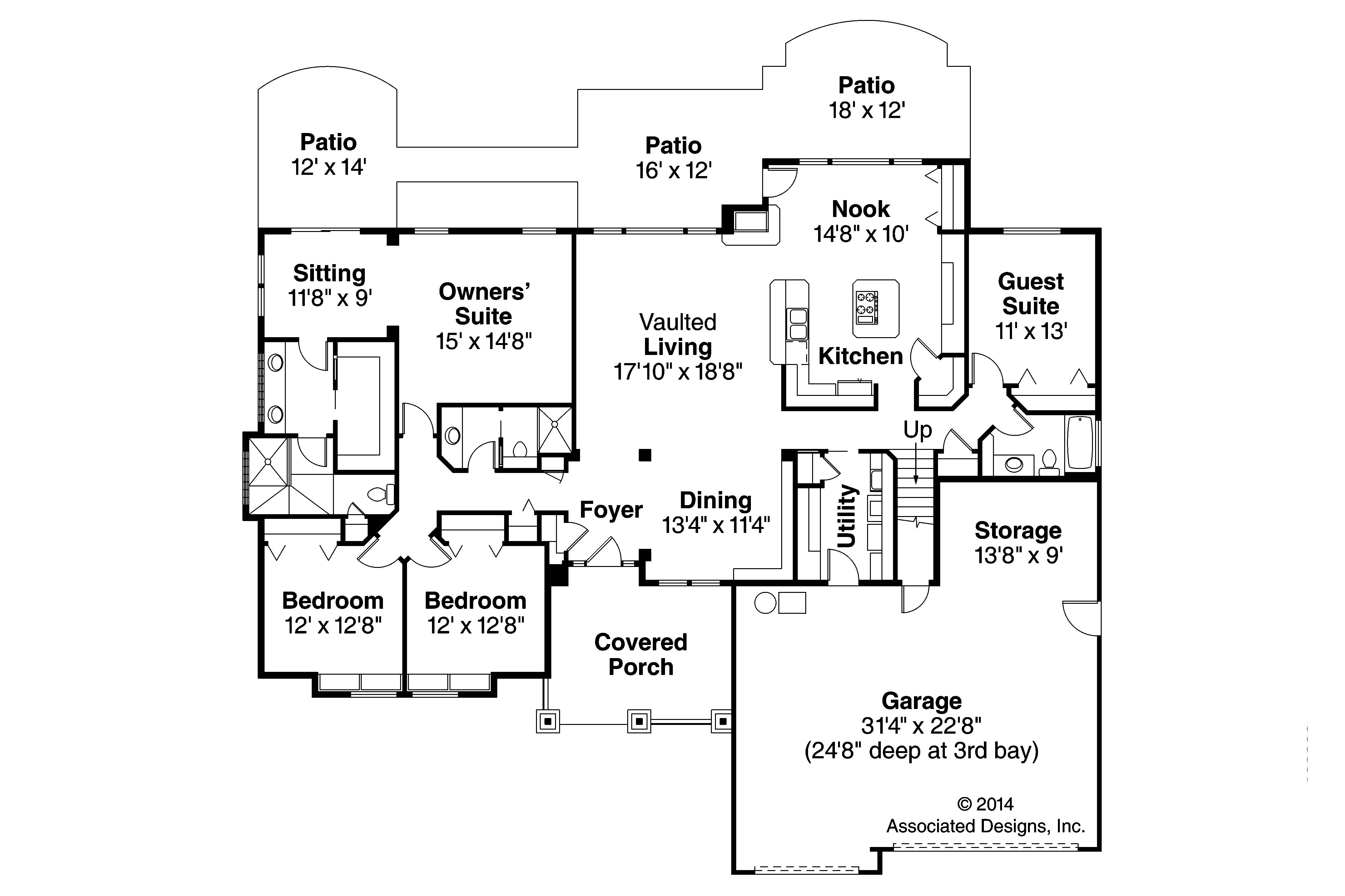 30 harmonious craftsman floor plans home building plans for Craftsman home designs floor plans
