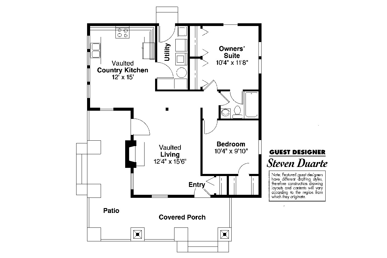 Craftsman house plans pinewald 41 014 associated designs for Floor plans