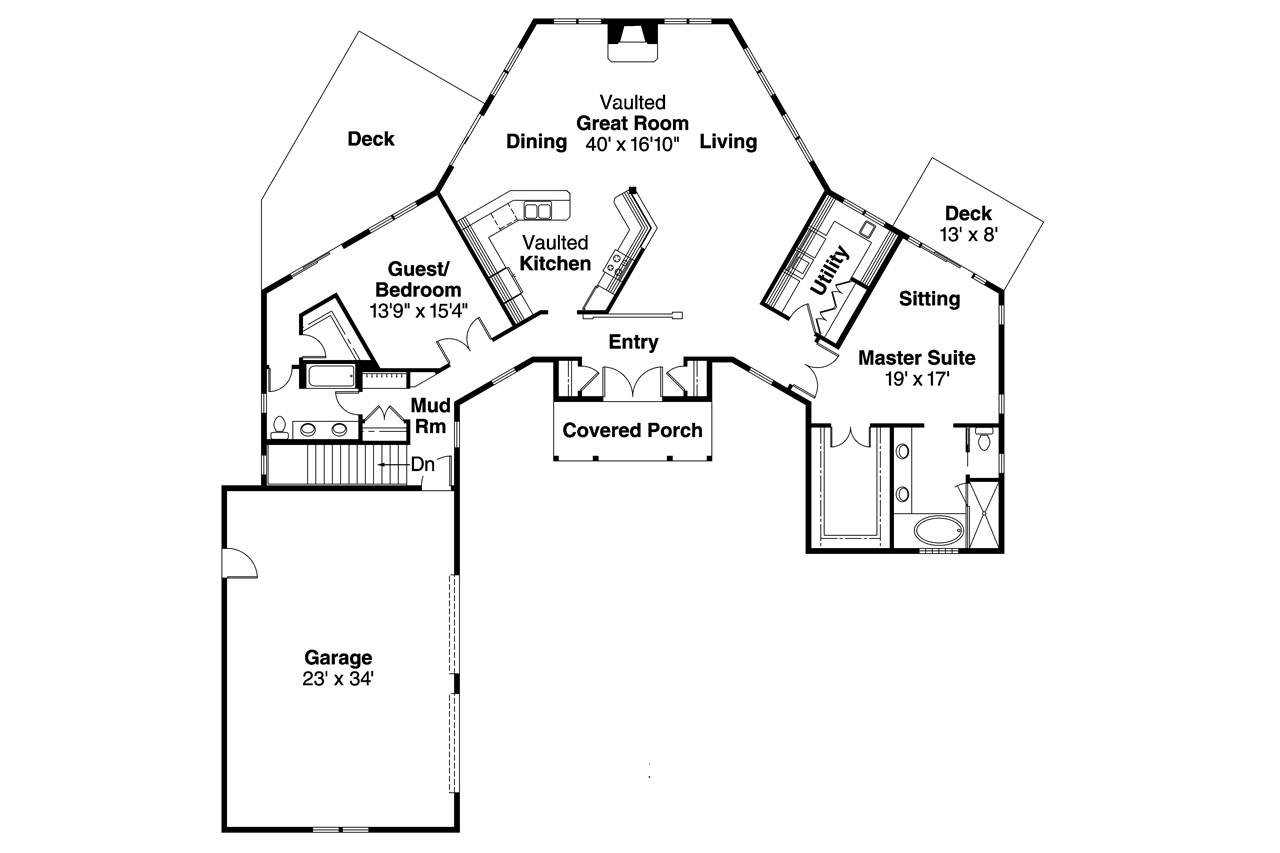 Great Craftsman House Plan   Treyburn 10 497   Floor Plan ...