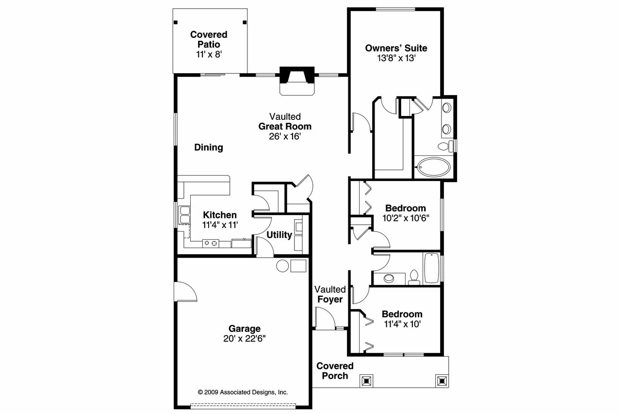 Craftsman floor plan 28 images craftsman home floor for Open floor plan craftsman