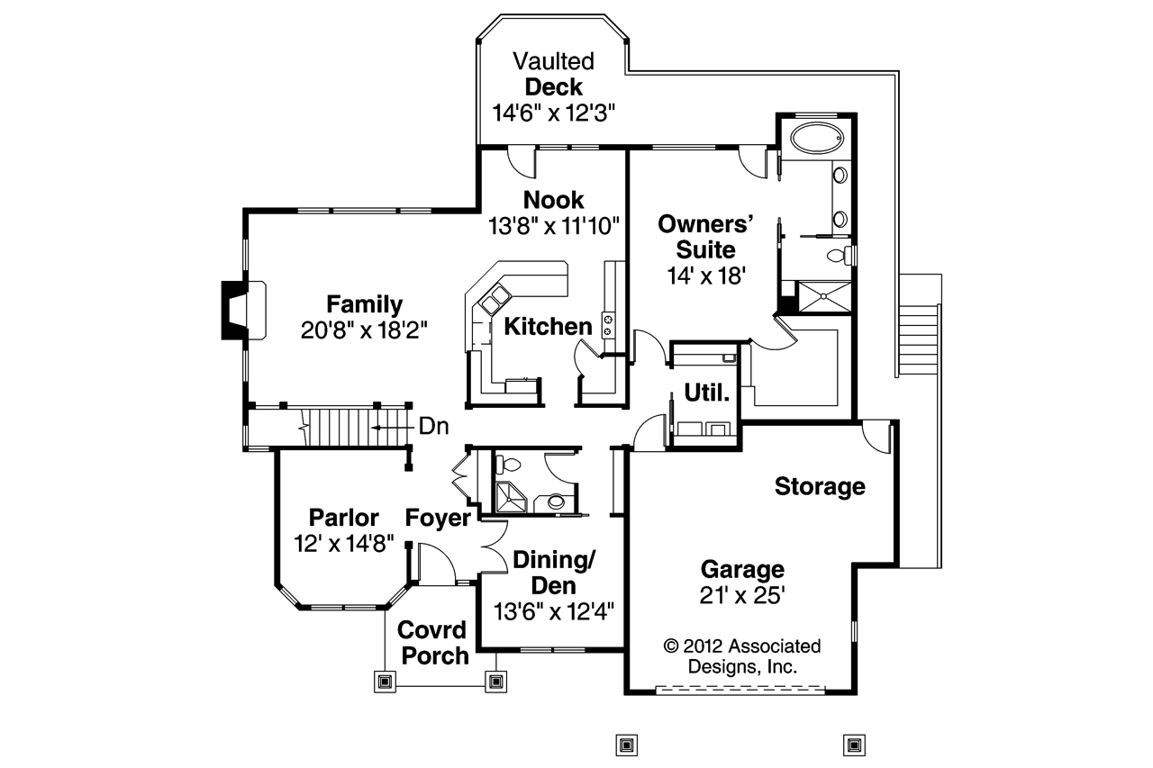 One story craftsman floor plans joy studio design for Open floor plan craftsman