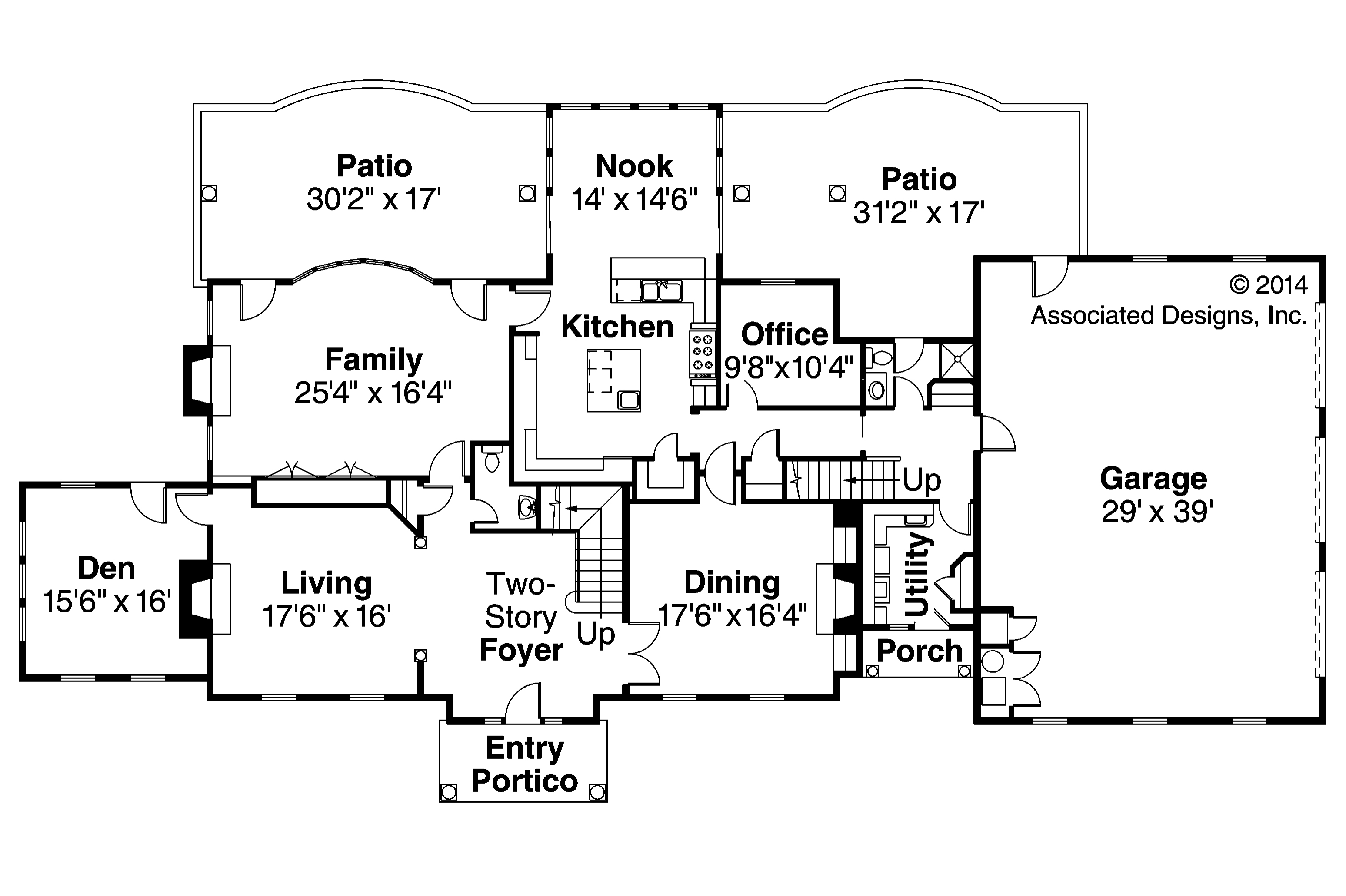 Edgewood 30 313 estate home plans associated designs for Floor plans first