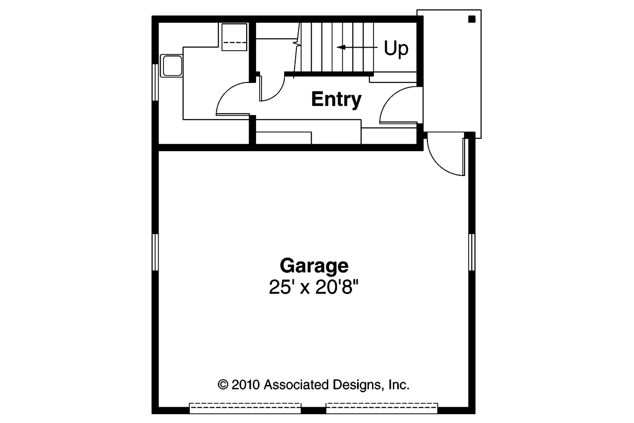 Craftsman house plans garage w studio 20 007 for Garage floor plans