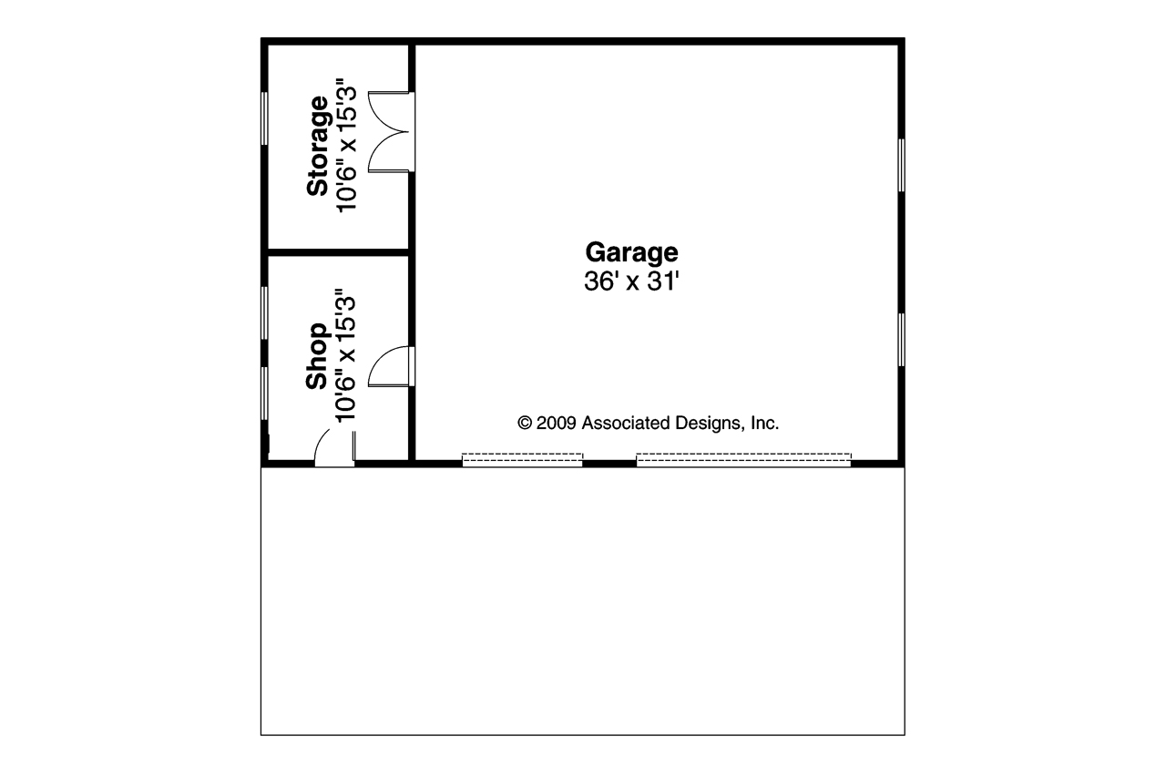 Traditional house plans garage w shop 20 050 Garage floor plans free