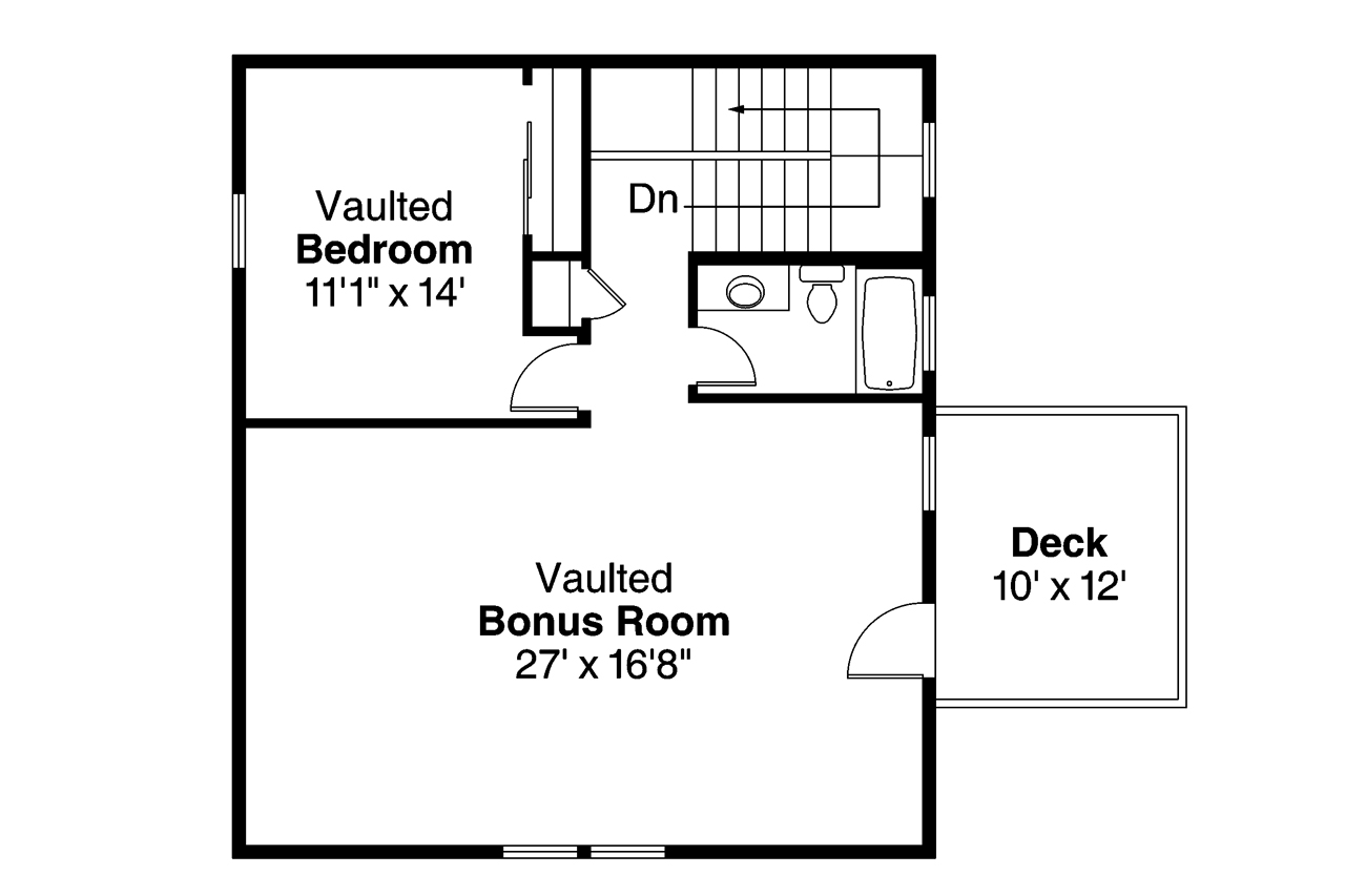 Traditional House Plans Garage W Living 20 063