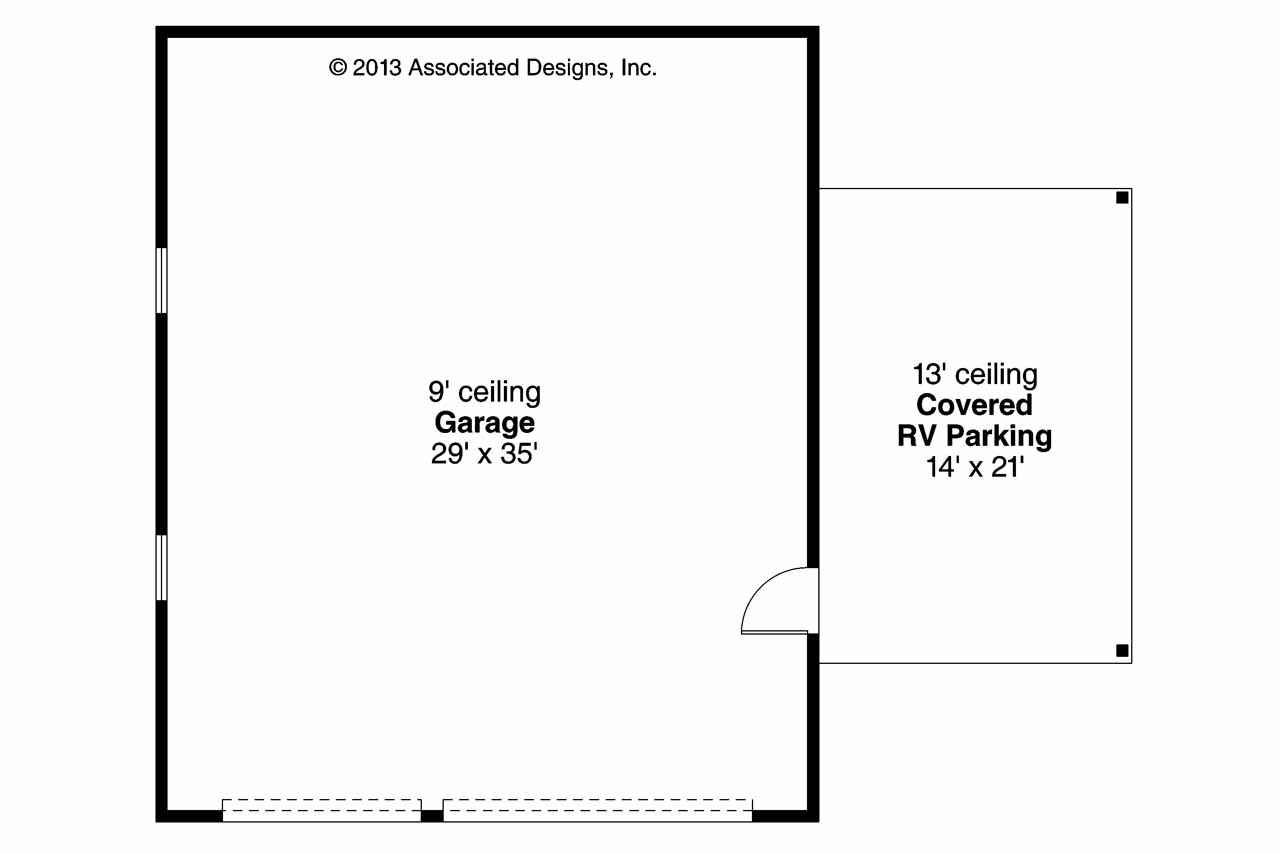 Traditional House Plans Garage W Rv Parking 20 064