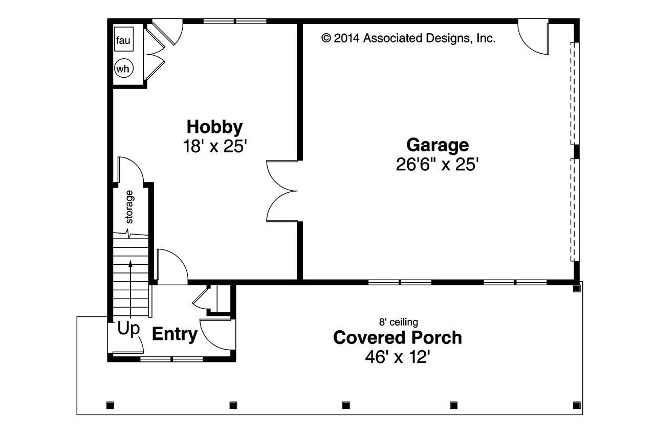 Craftsman house plans garage w apartment 20 119 Garage layout planner