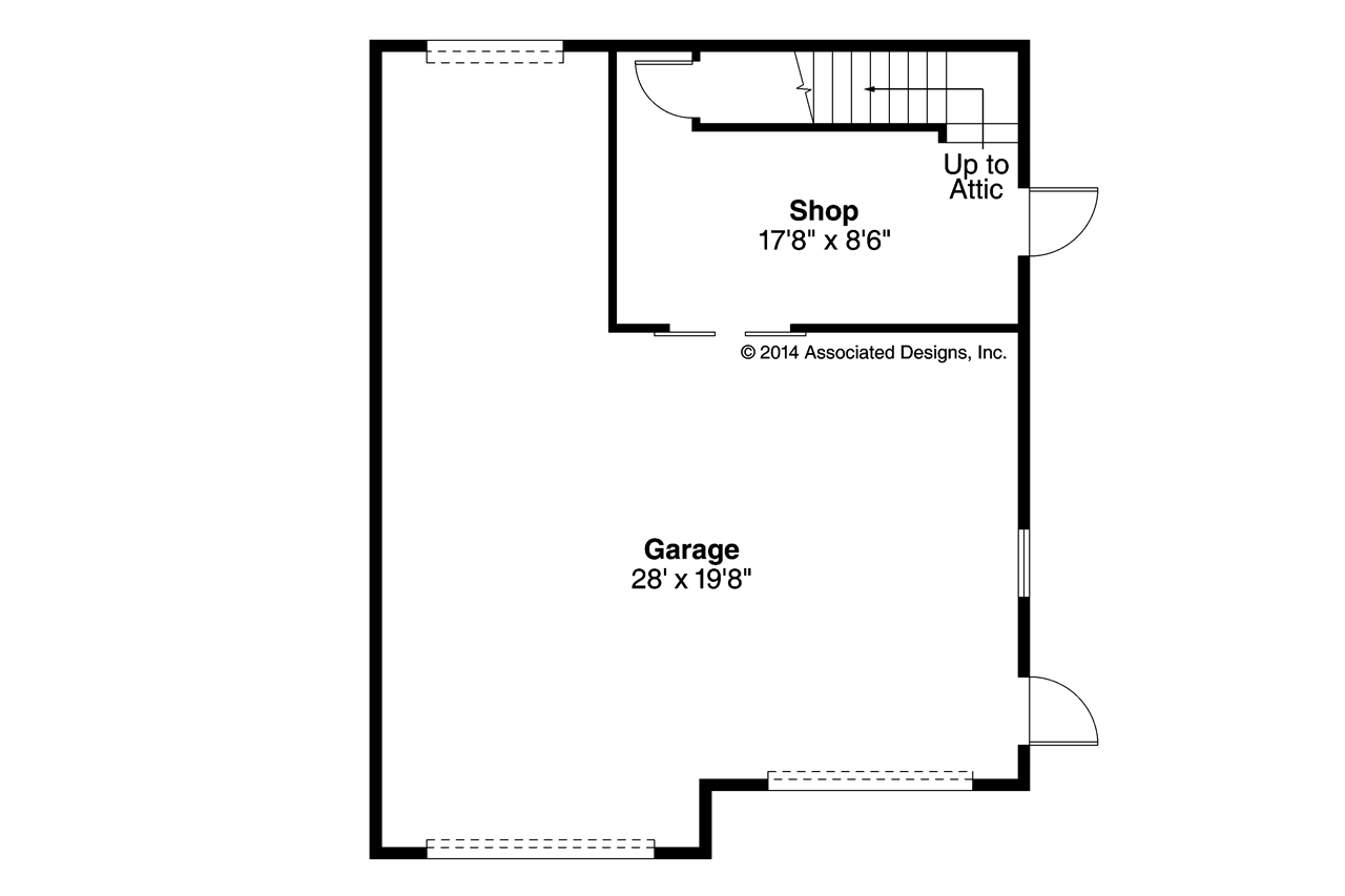 Traditional House Plans Garage W Shop 20 123