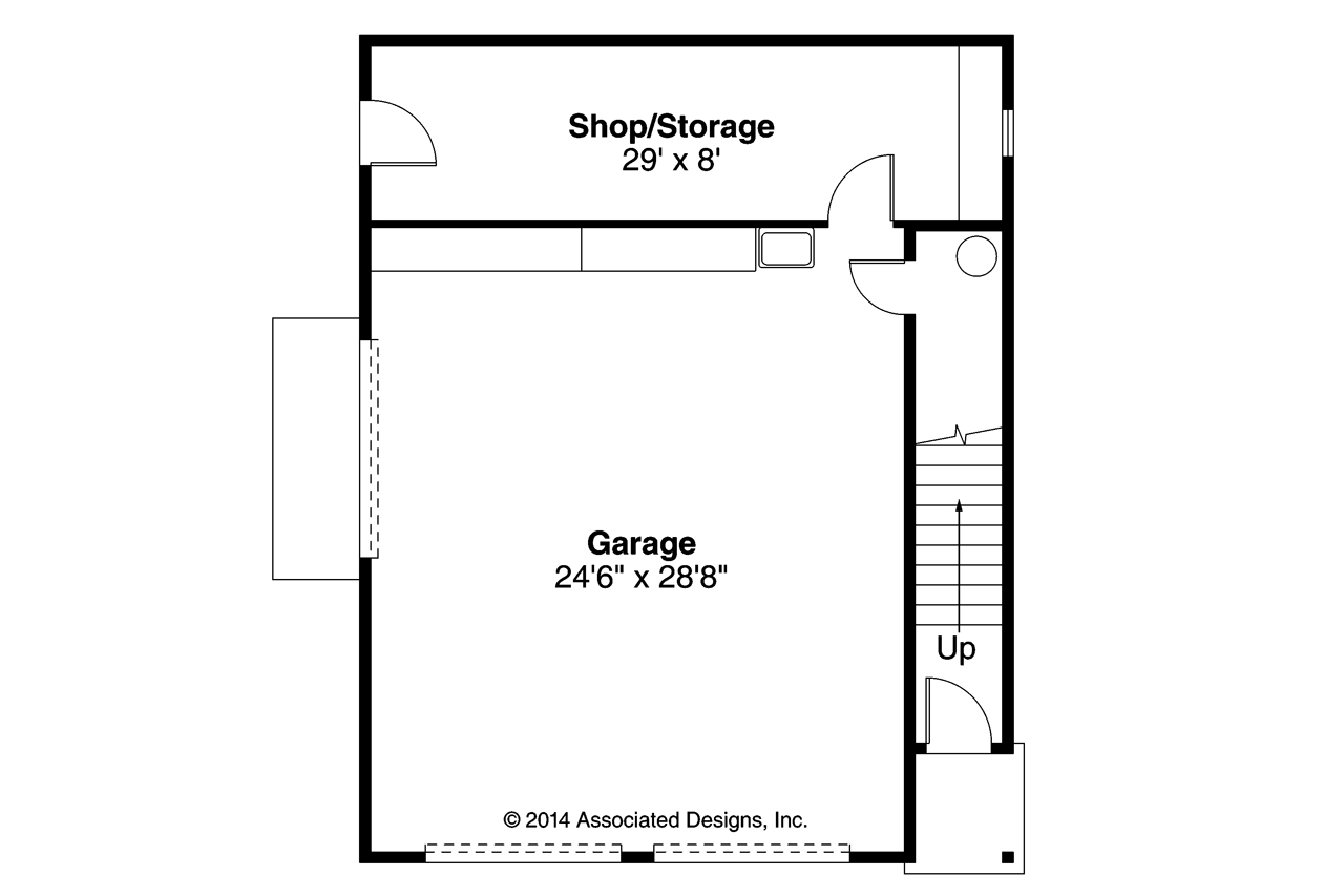Cottage house plans garage w apartment 20 141 for Garage floor plans