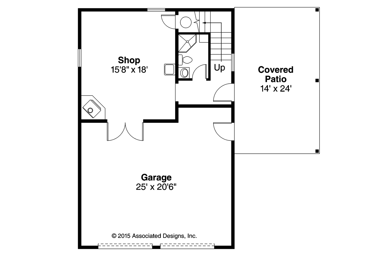Country house plans garage w shop 20 154 associated for Garage floor plans