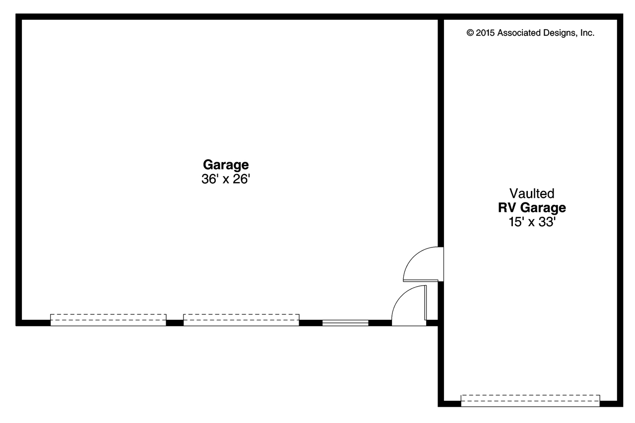 Southwest house plans rv garage 20 169 associated designs for Rv garage floor plans