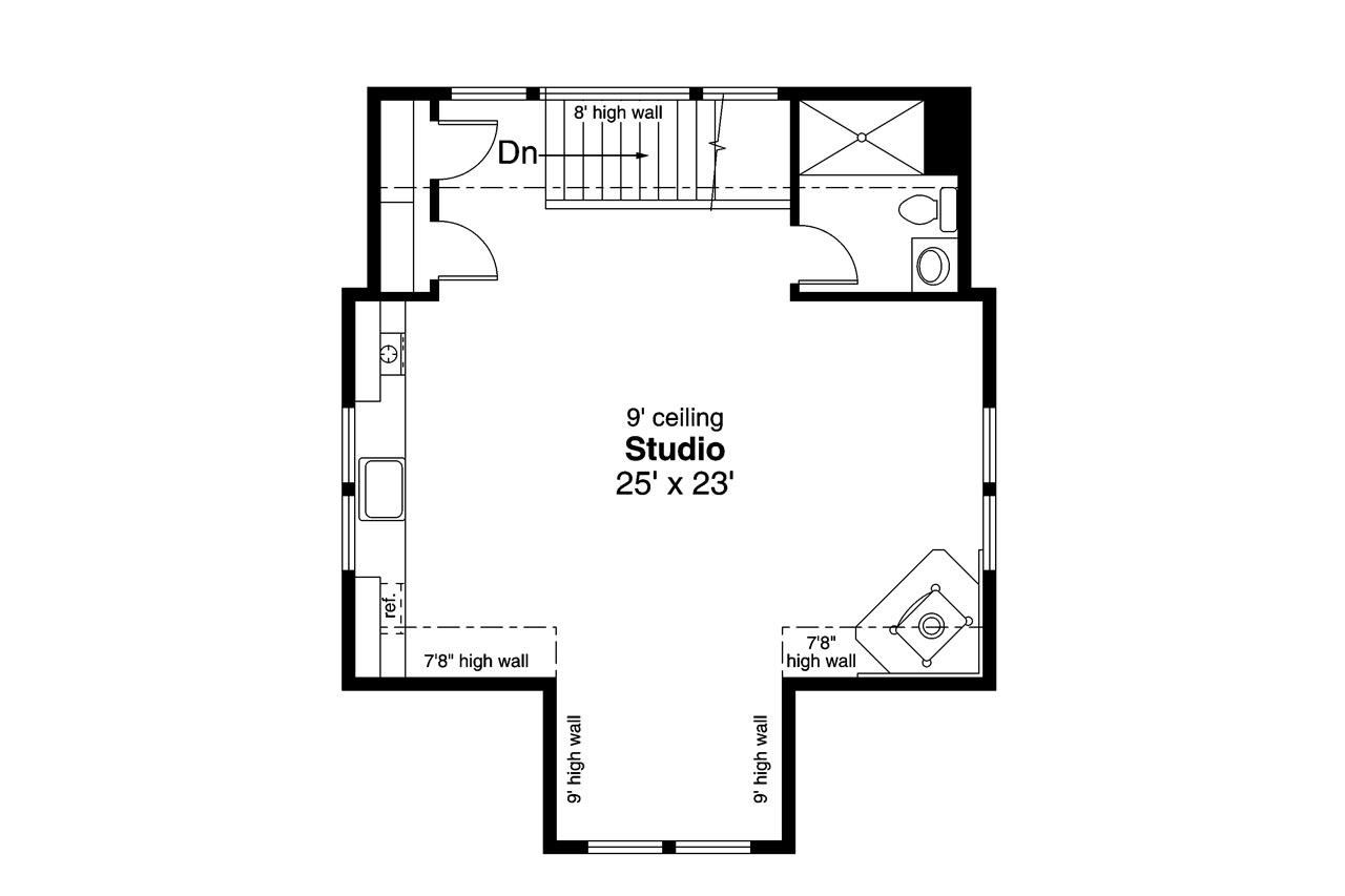 Country house plans garage w studio 20 189 associated for Garage floor plan software
