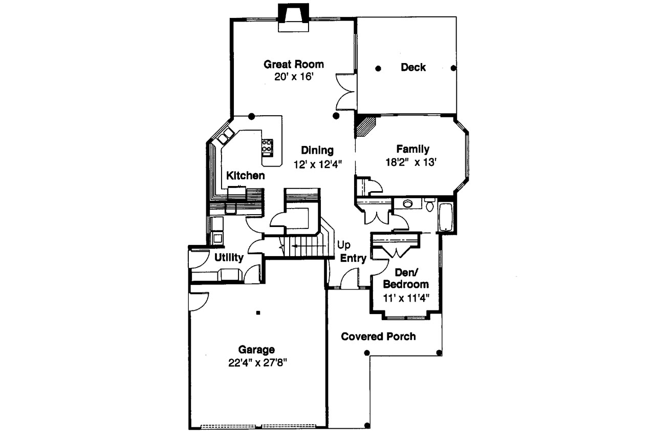 Lodge style house plans deschutes 30 150 associated for Lodge style floor plans