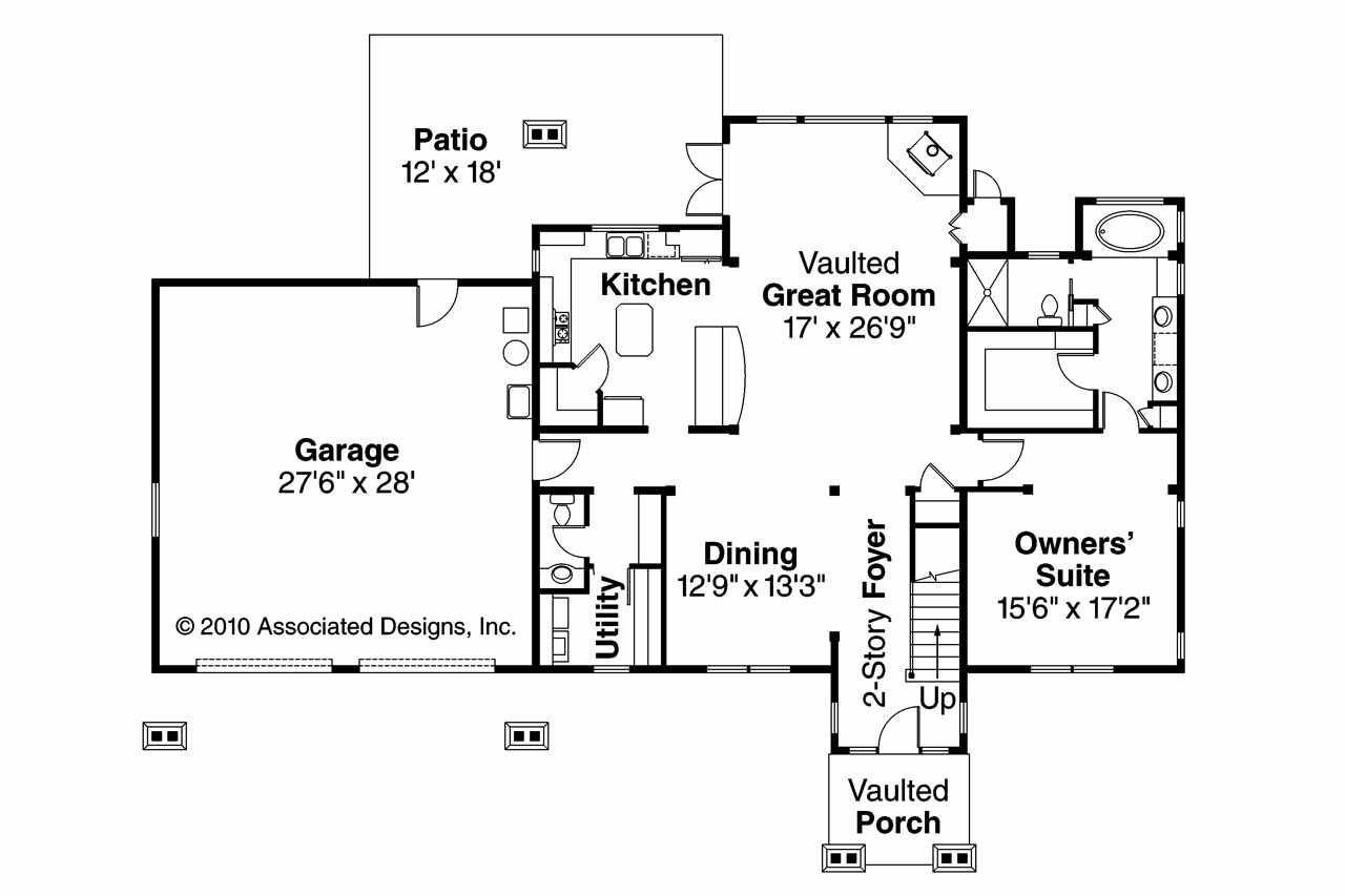 Lodge style house plans grand river 30 754 associated for Cabin style floor plans