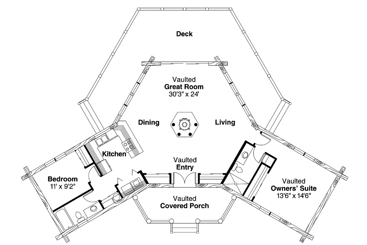 lodge style floor plan