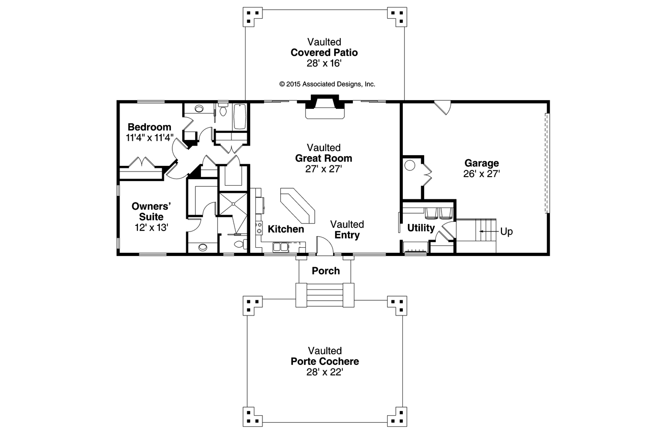 Lodge style house plans spindrift 31 016 associated for Lodge style floor plans