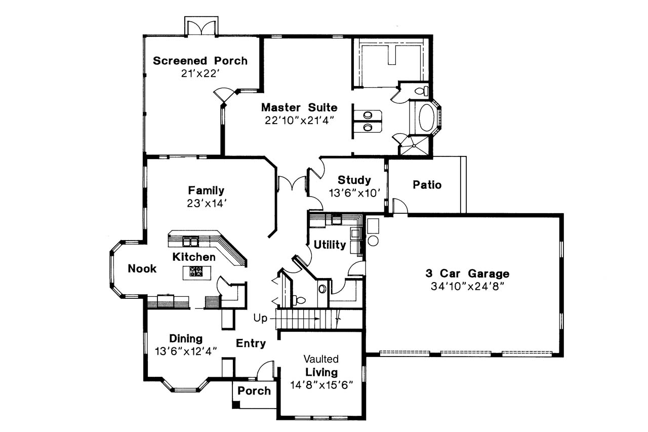 Mediterranean house plans amherst 11 030 associated for Mediterranean style house floor plans