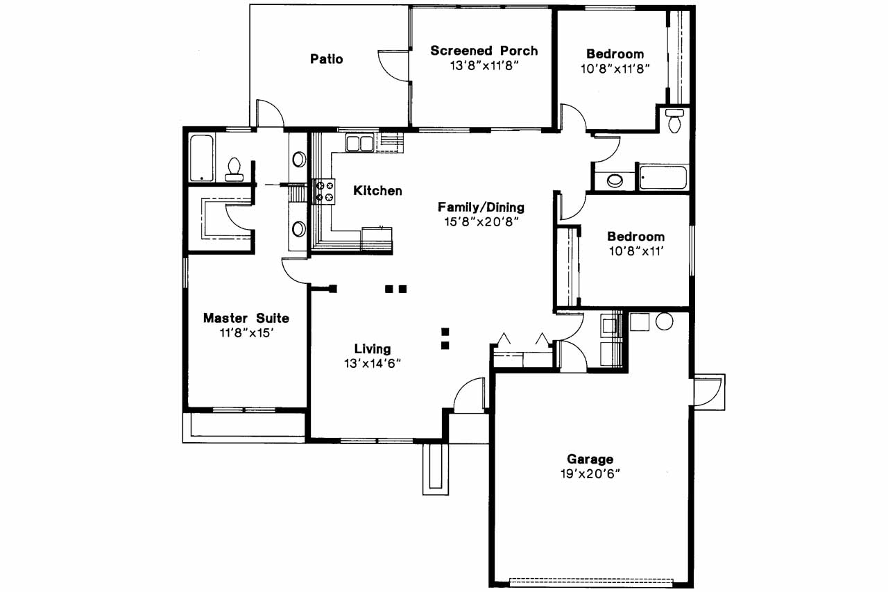 Top 28 house plan the london house plan bungalow Houseplans com