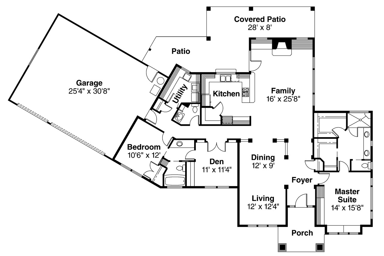 Mediterranean house plans chatsworth 30 227 associated for Mediterranean house floor plans