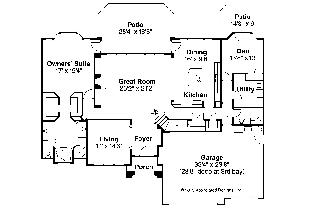 Mediterranean house plans corsica 30 443 associated for Mediterranean house floor plans