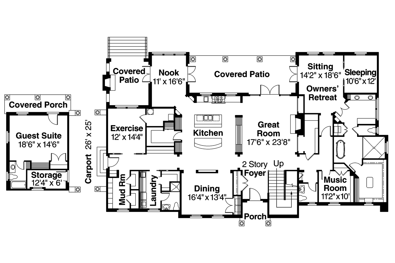 Mediterranean house plans rossano 30 569 associated for Mediterranean mansion floor plans