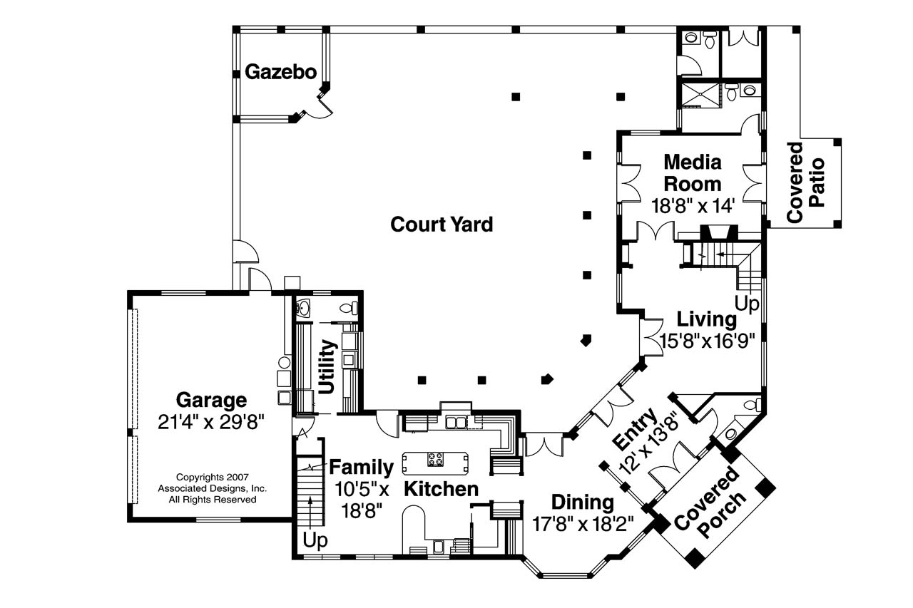 Mediterranean house plans veracruz 11 118 associated for Mediterranean style house floor plans