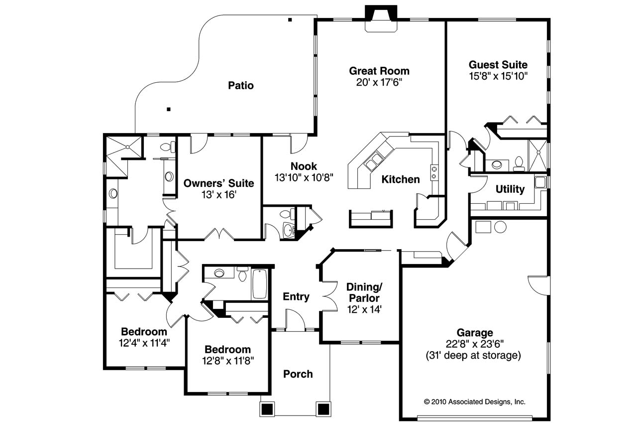 29 harmonious prairie style floor plans home building for Prairie floor plans