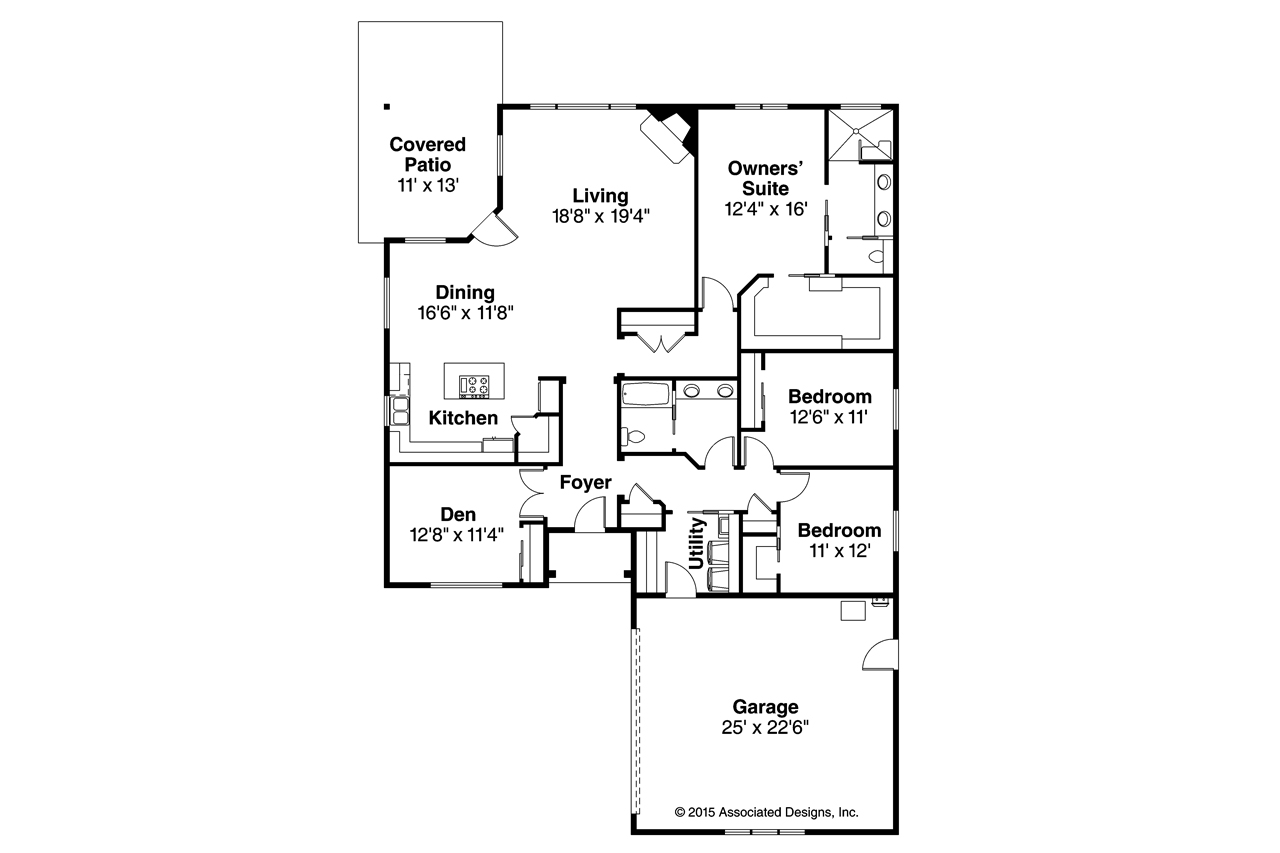 Prairie style house plans denver 30 952 associated designs for Prairie style floor plans