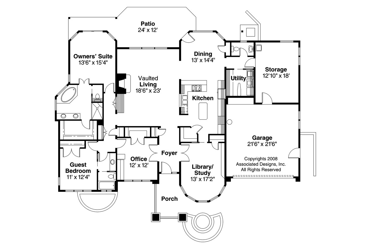 Prairie Style House Plans Elmhurst 30 452 Associated
