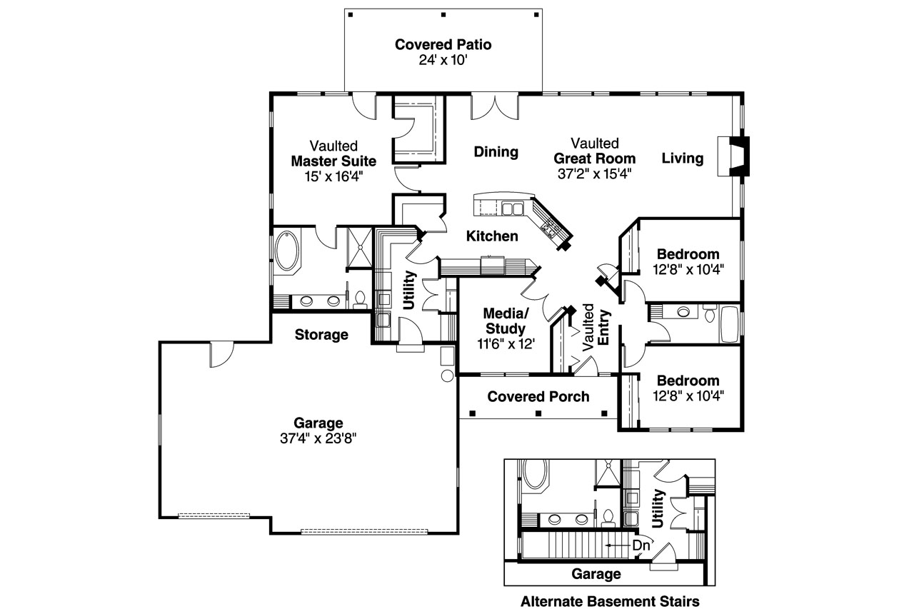 Prairie style house plans heartshaven 10 525 for Prairie floor plans