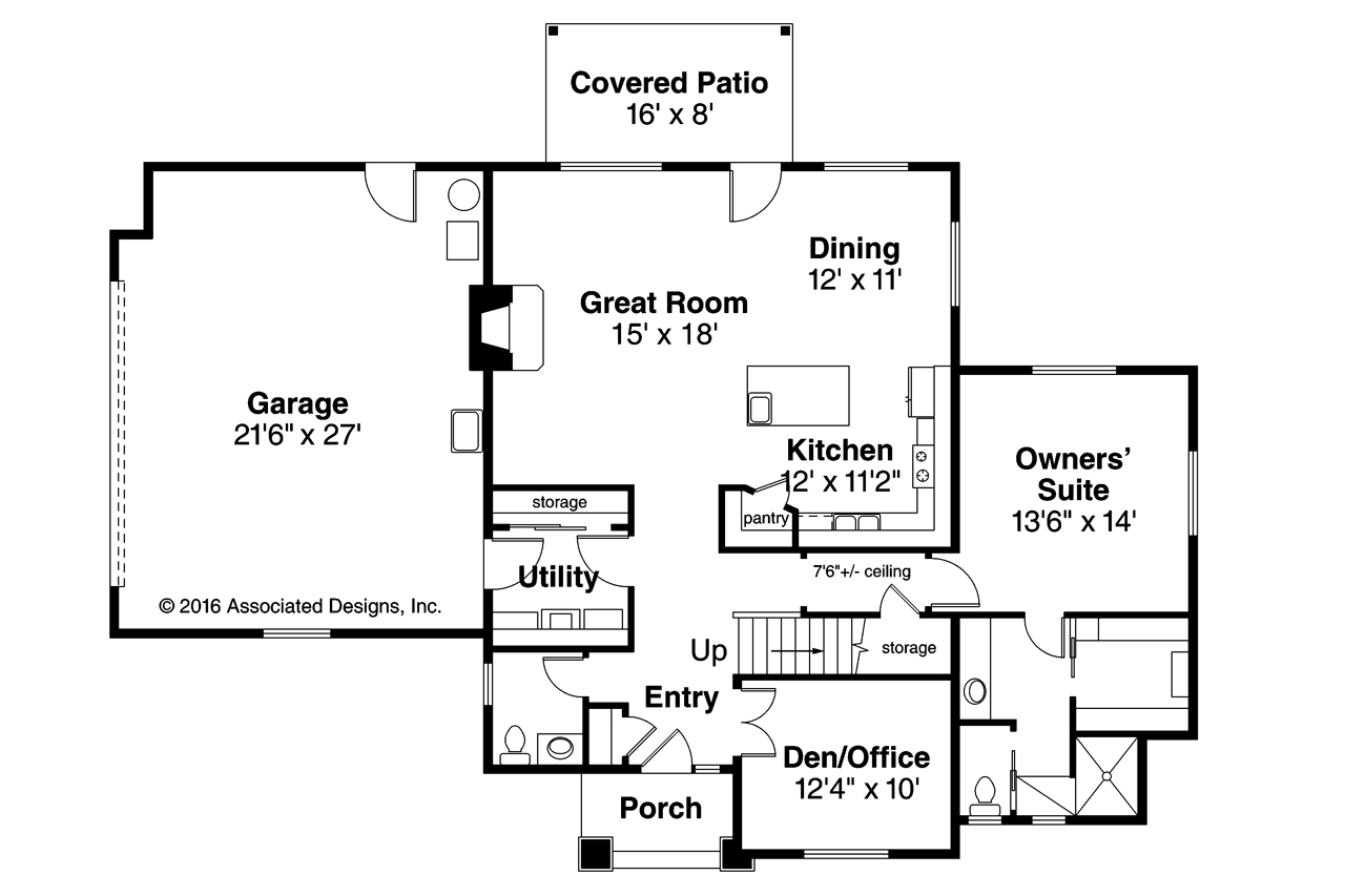 Prairie style house plans larkview 31 057 associated for Prairie floor plans